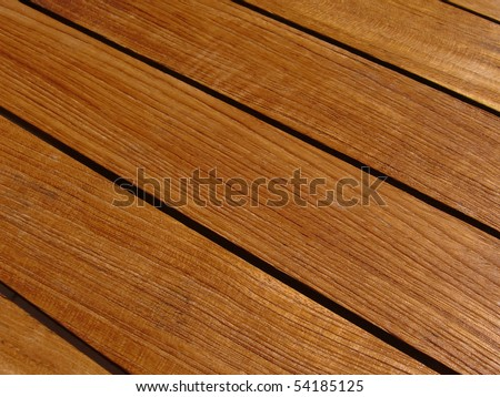 wet teak wood table