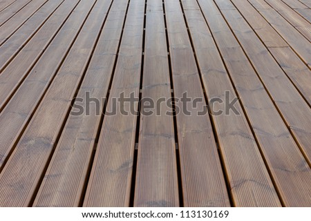 wet terrace brown wood floor background