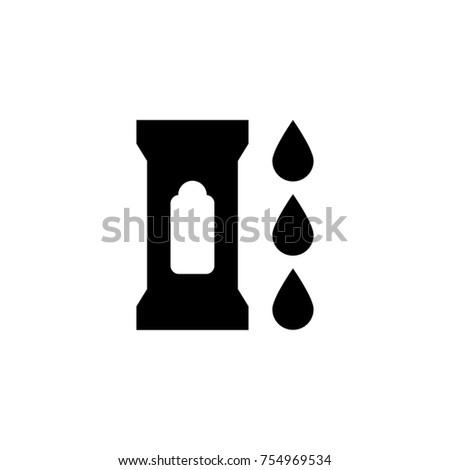 Wet wipes icon isolated on white