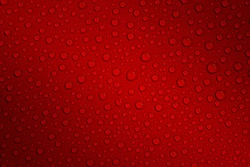Wet with water drops dark red background with gradient illumination at two corners