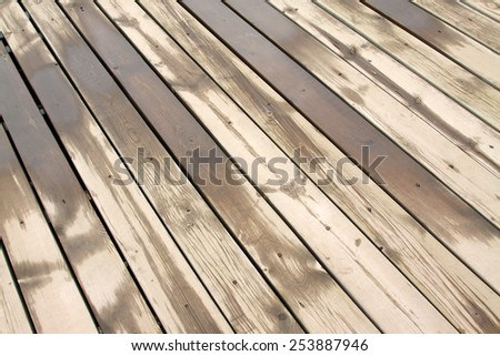 Wet Wood Floor Closeup Of Photo Ez Canvas