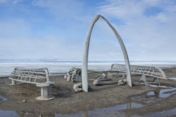 Whale Bone Arch in Barrow, Alaska