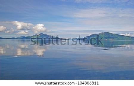 Whale Island from the ocean near Kodiak Island in Alaska