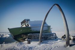 Whalebone Arch of Barrow Alaska