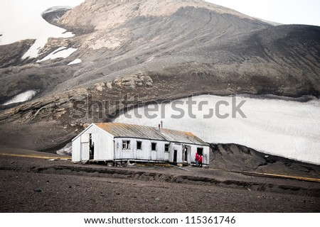 Whaling' station in Deception island, Antarctica