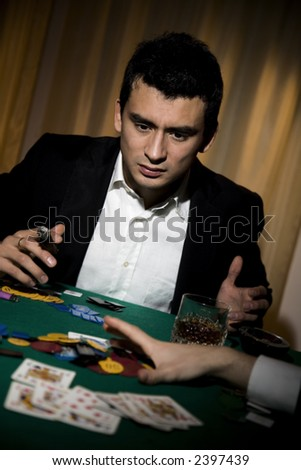 What bloody rotten luck. This poor man has been left broke playing poker.