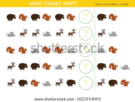 What comes next? Educational Game for Preschool Children