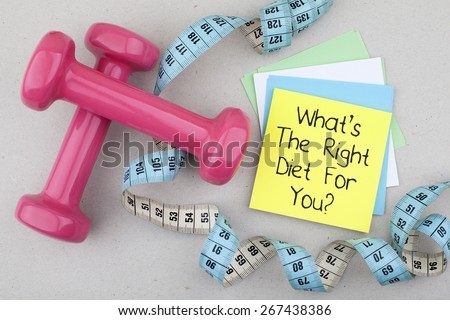 What is the right diet for you ストックフォト ©