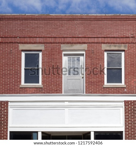 What is very wrong about this building? Door on second floor leads to major mishap. #1217592406