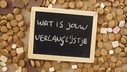 What is your present list written in Dutch for Santa Claus in the Netherlands