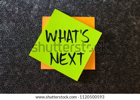 What's next on green note paper