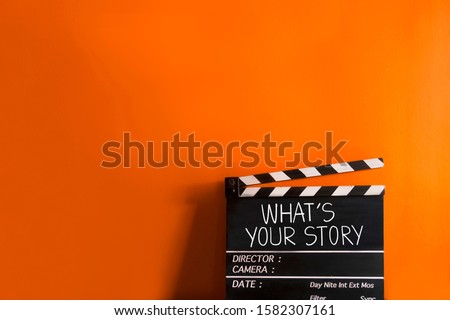 What's your story.text title on film slate Сток-фото ©