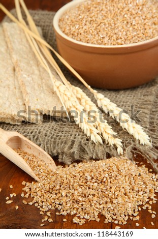 Wheat bran on the table #118443169