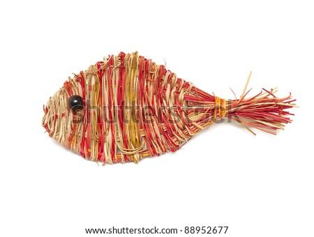 Wheat fish toy - stock photo