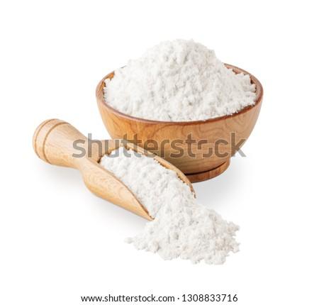 Wheat flour isolated on white background #1308833716