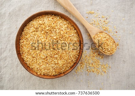 Wheat germ in bowl background from top view Stock photo ©
