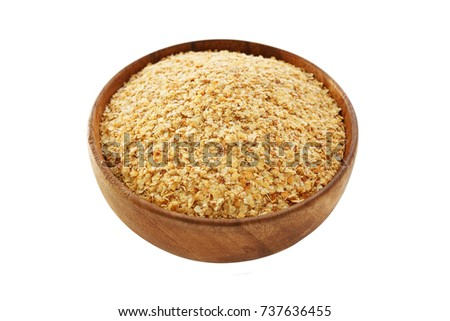 Wheat germ in bowl isolated on white background Stock photo ©