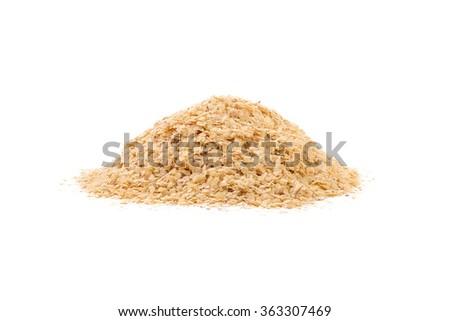 Wheat germ, the highly nutritious heart of the wheat kernel. isolated Stock photo ©