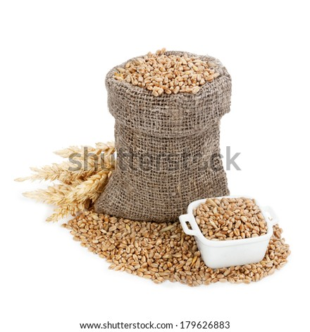 Wheat in bag  #179626883