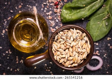 wheat oil Stock photo ©