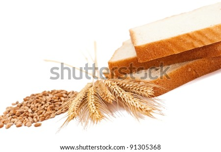 Wheat product with ears and grains