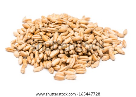 Wheat Seeds On White Background #165447728