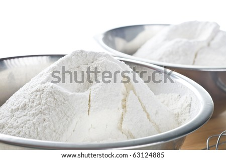 Wheat  white flour in cooking bowl