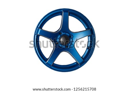 Wheel alloy die casting technology of color separate from the background. #1256215708