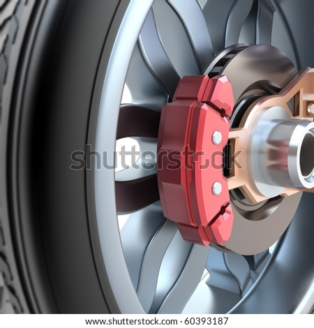 Wheel and brake pads