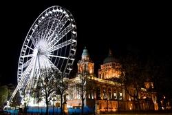 Wheel at Belfast City Hall, Northern Ireland