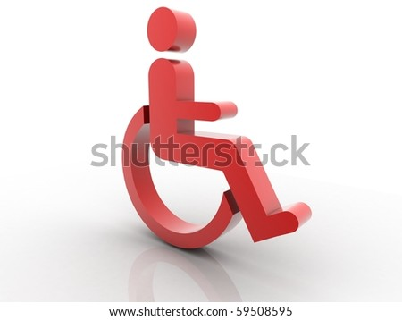wheel chair icon isolated in white background