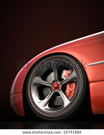 Wheel exclusive design, good to use without reference of mark. Your text on the dark space. - stock photo