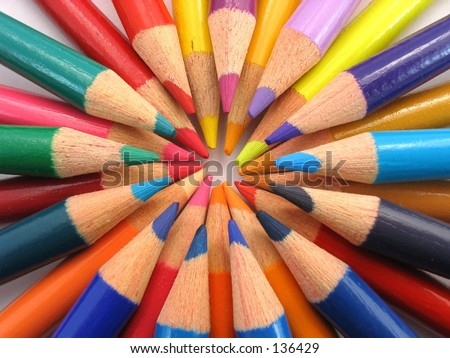 Wheel of Color Pencils