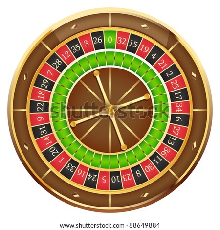 Wheel of fortune isolated on a white background