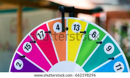 Wheel of fortune on a children's festival