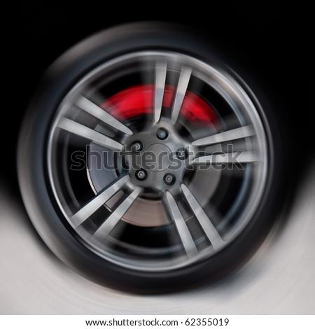 Wheel on a high speed