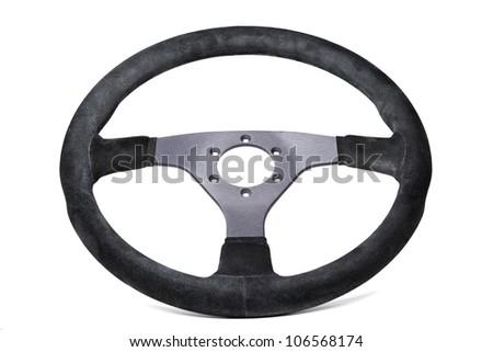 wheel sports car isolated on white background