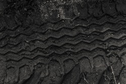 wheel track on mud