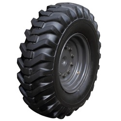 Wheel with a high protector of a modern tractor.