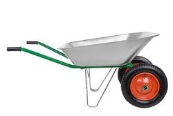 wheelbarrow isolated on a white background.