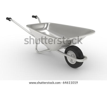 wheelbarrow isolated on a white background