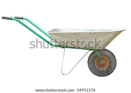 wheelbarrow under the white background