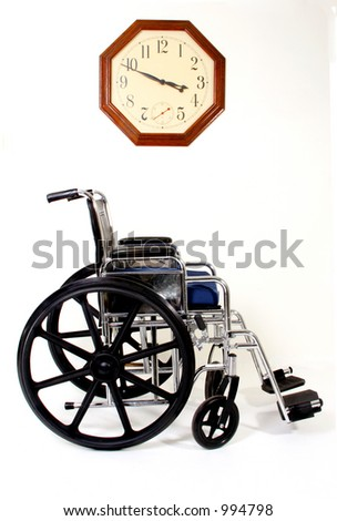 Wheelchair and Clock, Signs and Symbols for Disabilities and Handicaps