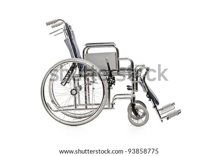 Wheelchair, isolated on white background