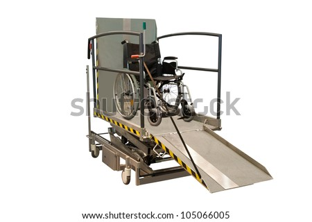 wheelchair on a sinking machine