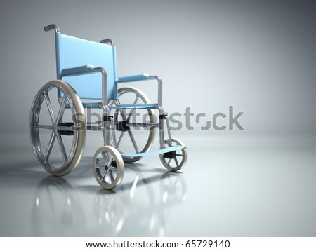 Wheelchair - this is a 3d render illustration