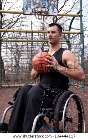 wheelchair users in sports, basketball,  strong man