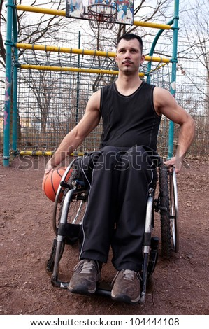 wheelchair users in sports, sportsman, player