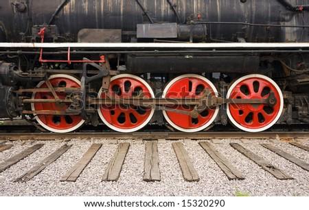 Wheels of a train