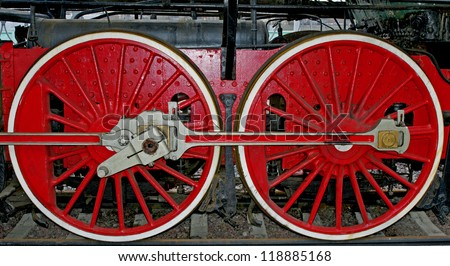Wheels of historic train